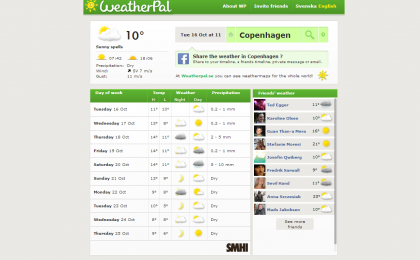 Weatherpal – Weather on Facebook